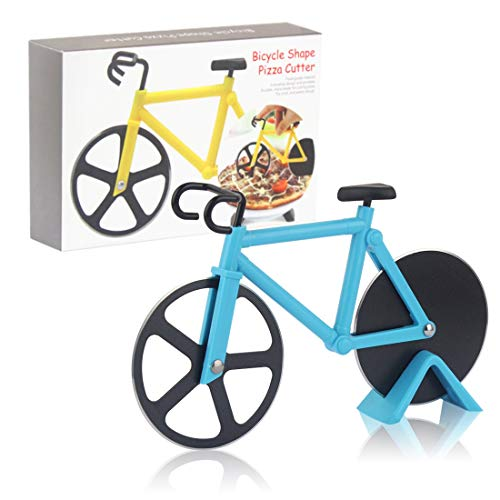 Pizza Cutter Wheel Quality Stainless Steel Pizza Slicer Bicycle Pizza Cutter Bicycle Pizza Slicer Cutter Wheel With a Kickstand Funny Pizza Cutter For Gift Easy to Clean
