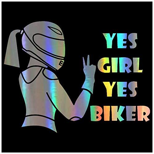 SHUNHUI Etiquetas Engomadas del Coche De La Moda Ciclista Chica Fresca Sí DecoracióN del Coche Chica Pegatinas Impermeables (2 Fotos)