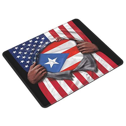 Alfombrilla de ratón rectangular para juegos con la bandera americana de Puerto...