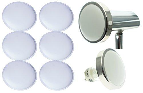 TRANGO 6er Set Diffusor-Einsatz für Deckenleuchten/Leuchtmittel (6er Pack Diffusor)