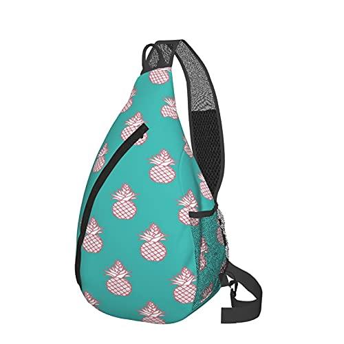 Mochila bandolera con patrón de piñas, ligera, impermeable, bolsa de hombro, unisex, para viajes, senderismo, mochila pequeña, para mujeres, hombres, regalos