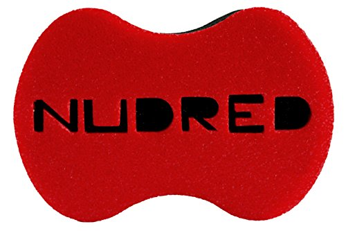 NuDred Natural Hair Curl Sponge, for Curls, Coils and Twists, Large Holes, Red