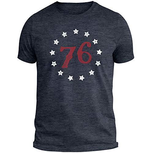 76 USA American 4th of July Betsy Ross Flag Patriotic United States T Shirt tee Navy