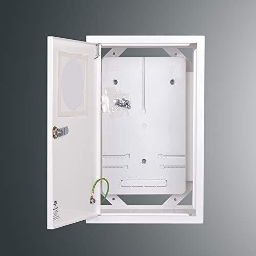 Zählerschrank Sicherungskasten Verteilerkasten AUFPUTZ 3 PHASEN IP30 m. Fenster