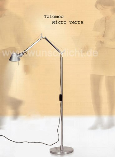 Artemide Tolomeo Micro Terra LED, Aluminium poliert & eloxiert