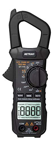 Metravi DT-115 Smart Digital Pocket TRMS AC Clamp Meter upto 600A, Auto Ranging & NCV