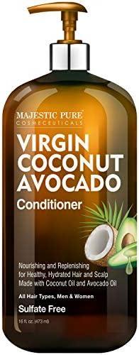 Majestic Pure Avocado Coconut Conditioner Vitamin Enriched Gentle Hair Conditioner Formula Nourishes product image