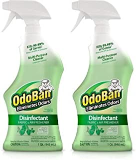 OdoBan 32 OZ Ready-to-Use Disinfectant Fabric and Air Freshener (2, Eucalyptus Original)