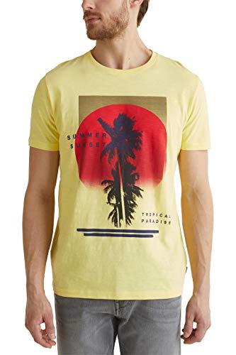 ESPRIT Męski T-shirt z nadrukiem fotograficznym