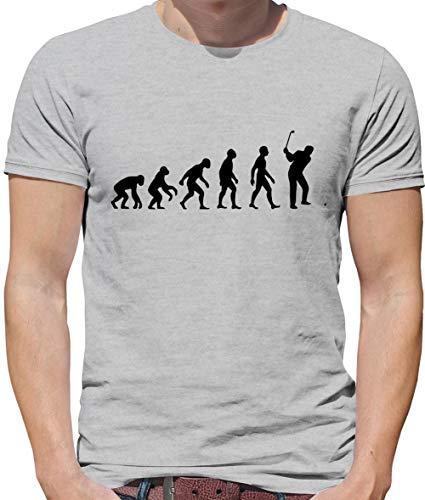 Evolution of Man Golf - Mens Premium Cotton T-Shirt - Sport Grey - XL