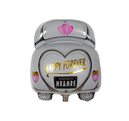 ★ RM ★ Helio Skins aluminio globo de aire Gas boda wedding par novia Auto carro San Valentín Happy Forever Love Amor Negro Blanco ★ RM ★