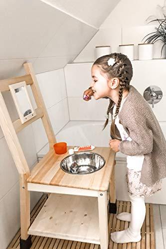 Kindino® Waschtisch, Waschbecken für Kinder auf Augenhöhe