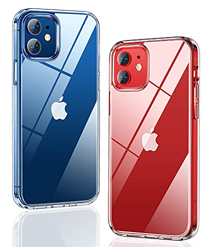Humixx Designed for iPhone 12 Mini Case,Diamond Crystal Clear Case, [20X Anti-Yellowing] [Military Grade Drop Protection] Hard PC Back with Soft TPU Bumper Slim Thin Case for iPhone 12 Mini 5.4 inch