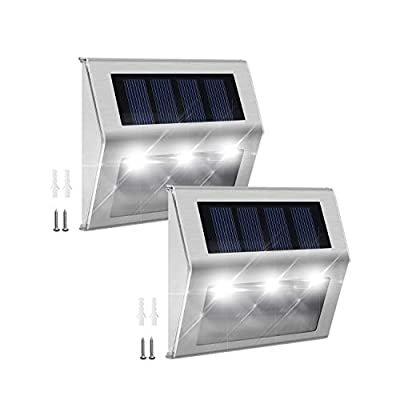 JACKYLED White Light Solar Step Lights
