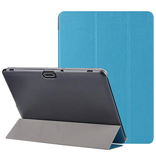 BEISTA Custodia per Tablet 10  10.1 ,Cover Ultra Sottile,Cover Posteriore Trasparente in Plastic,Compatibile 10 , YOTOPT 10 ,TOSCIDO 10  ect .(Blu)