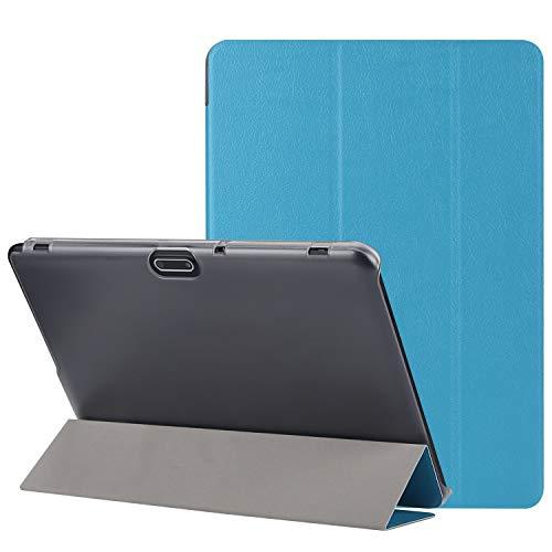 """BEISTA Custodia per Tablet 10"""" 10.1"""",Cover Ultra Sottile,Cover Posteriore Trasparente in Plastic,Compatibile 10"""", YOTOPT 10"""",TOSCIDO 10"""" ect .(Blu)"""