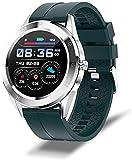 LLM Smartwatch Uomo E Donne, Impermeabile Sport Fitness Watch Health Tracker, Bluetooth Phone Smart Watch Uomo, Visualizzazione Meteo (B)
