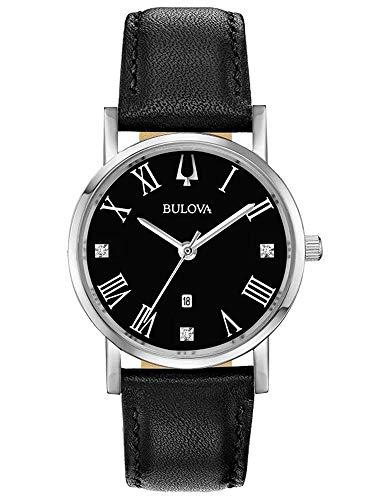 Bulova 97A154 Men's American Clipper Open Heart Black Dial Watch