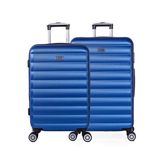 ITACA - Juego de Maletas de Viaje Rígidas 4 Ruedas Trolley 55/65/75 cm ABS. Extensibles. Cómodas...