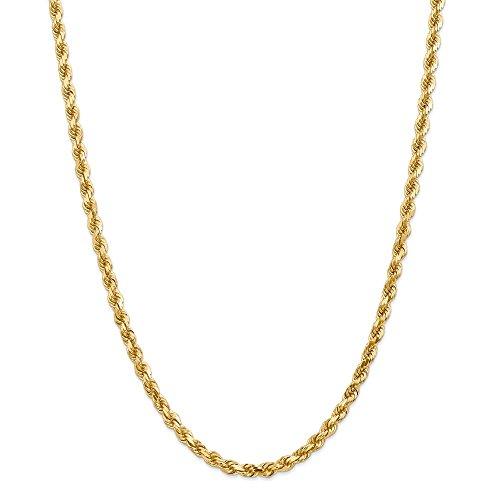 Leslie's - Collana in oro giallo 14 kt da 5,0 mm, taglio diamante, per uomo e donna