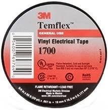 QTY100 FRESH BOX OF 3M Temflex 1700 Black 3/4