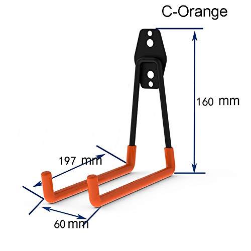 Maddy Hooks & Rails - Wall Mount Garage Bike Hanger Hook Heavy Duty Metal Hooks Garden Bathroom Organizer Hooks Kitchen Storage Tools with Screws 25 - by 1 PCs