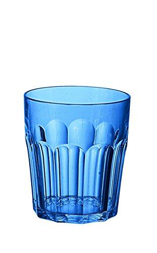 Guzzini 07230576 Verre Meule 250 CC Bleu Méditerranée 9 x 8 cm