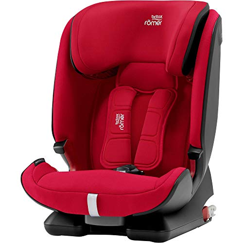 Britax Römer Kindersitz 9 Monate - 12 Jahre I 9 - 36 kg I ADVANSAFIX Z-LINE Autositz Isofix Gruppe 1/2/3 I Fire Red