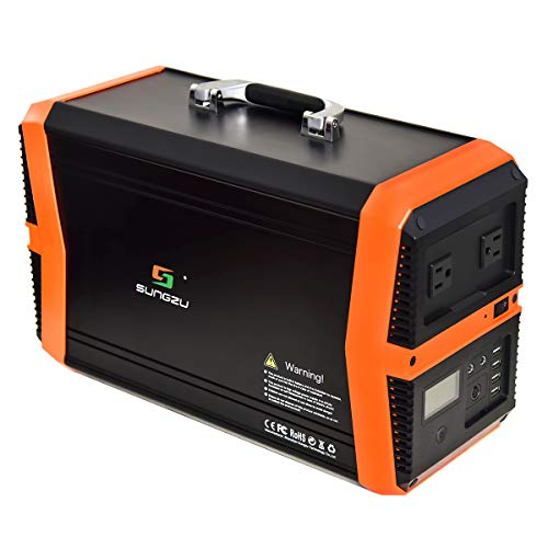 Portable Power Station 1000W, SUNGZU 1010Wh Outdoor Mobile Solar Generator Lithium Battery Backup Power Inverter with 2 110V AC Outlet, 2 DC, 4 USB for Camping Travel & Home Outages 1000W generator inverter portable SUNGZU