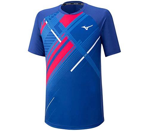Mizuno Shadow, T-Shirt Uomo, Mazarine Blue, M