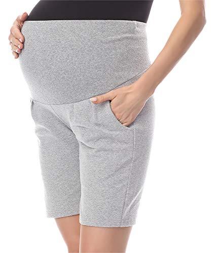 Be Mammy Pantalones Premamá Cortos Shorts Ropa Verano BE20-234 (Melange, S)