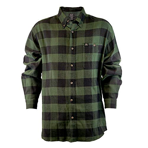 Staghorn Long Sleeve Plaid Flannel, Sycamore, XXL
