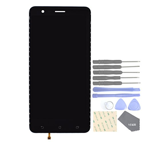 VEKIR LCD Touch Digitizer Glass Screen Replacement for Asus Zenfone 3 Zoom ZE553KL(Black)