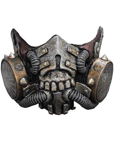 Doomsday Latex Gasmaske SciFi Halbmaske Kostüm-Zubehör