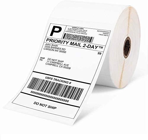 "Phomemo 4""x 6""Etiqueta de envío térmica directa,500 Etiqueta de envío exprés,Etiqueta 4x6 para embalaje de transporte,Compatible con todas las impresoras de etiquetas térmicas,(500 etiquetas envío)"