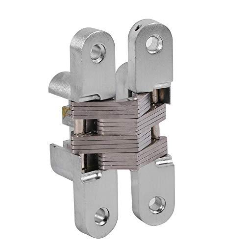 Fdit Bisagra Ocultada Aleación Invisible Bisagra Ocultada de Puerta Plegable Bisagras para Puerta Plegable Muebles(94mm)