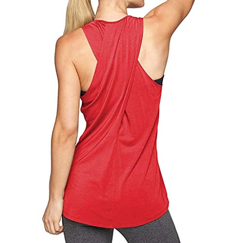 Luckycat Ropa Camiseta sin Mangas Tank Tops para Mujeres, Verano Sexy Deporte Casual Yoga Chaleco Blusa Tops Blusas Crop Tops Vest T Shirt Mujeres