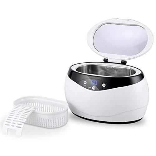 himaly Ultraschallreiniger,Digital Ultrasonic Cleaner Reiniger mit Uhrenhalter und Reinigungskorb Ulrtaschallbad,für Zahnprothesen Schmuck Uhren Brille Rasierer Münzen usw