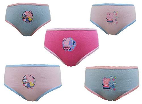 Thingimijigs Peppa Pig Mädchen 5er Packung 100% Baumwolle Knickers/Slips (110cm) 4-5 Jahre