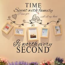 Generic Time Spent with Family is Worth Every Second Decoration Wall Sticker