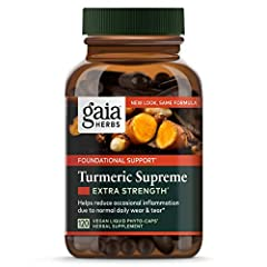 [PACKAGING MAY VARY] Includes 1 (120 count) Turmeric Supreme Extra Strength PLANT BASED SUPPLEMENT: A vegan turmeric supplement designed to support whole-body vitality & a healthy inflammatory response. DELIVER THE POWER OF TURMERIC: Formulated to de...