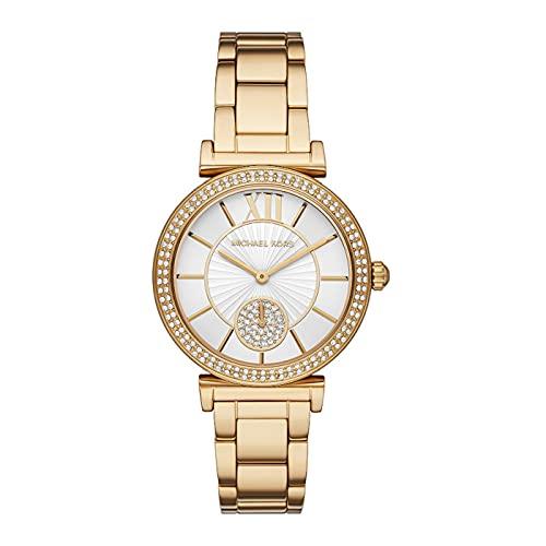 Michael Kors Womens Analog Quartz Uhr mit Stainless Steel Armband MK4615