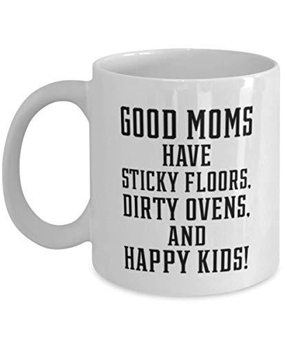N\A Taza de café con Leche de mamá, Buenas mamás Tienen Pisos pegajosos, hornos sucios, Divertida inspiración única Navidad para mamá, Idea de mamá