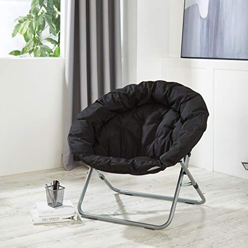 Urban Shop Oversized Saucer Chair, Black
