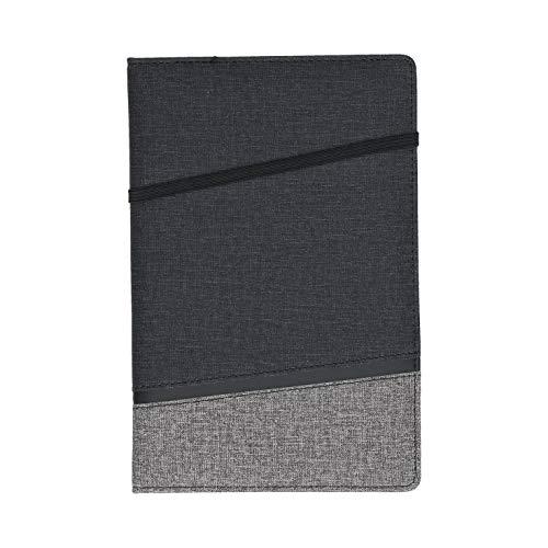 Notizbuch A5 Kariert - Style - Hardcover Einband zweifarbig, Dickes Papier naturfarben 80 Seiten | Tagebuch Schreibblock Notizblock Notizheft Business Journal (A5)