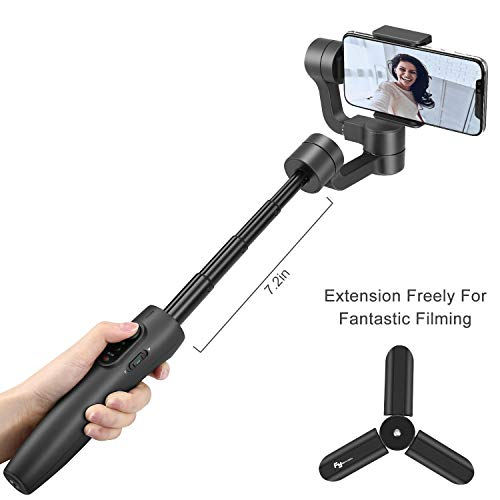 FeiyuTech Vimble 2S Extensible Handheld Gimbal Stabilizer 3-Axis with Extension Pole One Key...