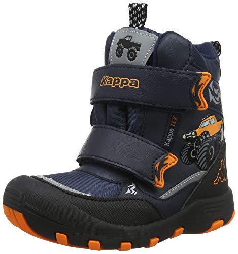 Kappa Jungen Big Wheel TEX Kids Klassische Stiefel, 6744 Navy/orange, 32 EU