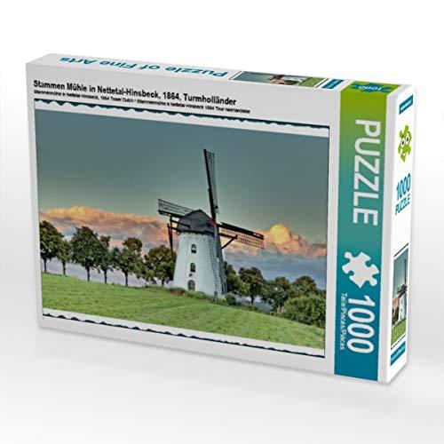 CALVENDO Puzzle Stammen Mühle in Nettetal-Hinsbeck, 1864, Turmholländer 1000 Teile Lege-Größe 64 x 48 cm Foto-Puzzle Bild von mitifoto