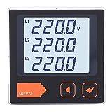 Misuratore di tensione digitale, rilevatore di monitor volt voltmetro trifase con display LCD per sistema di distribuzione dell'alimentazione(110-240V)