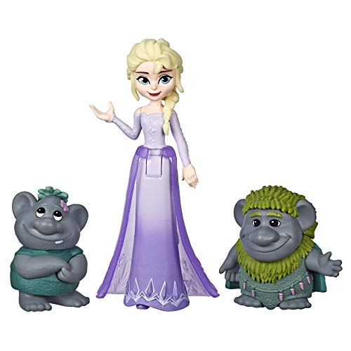 Disney Frozen Elsa Small Doll with Troll Figures Inspired by The Frozen 2 Movie